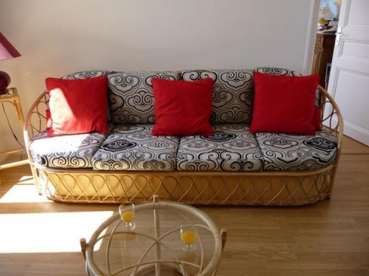 photos canap en rotin convertible. Black Bedroom Furniture Sets. Home Design Ideas