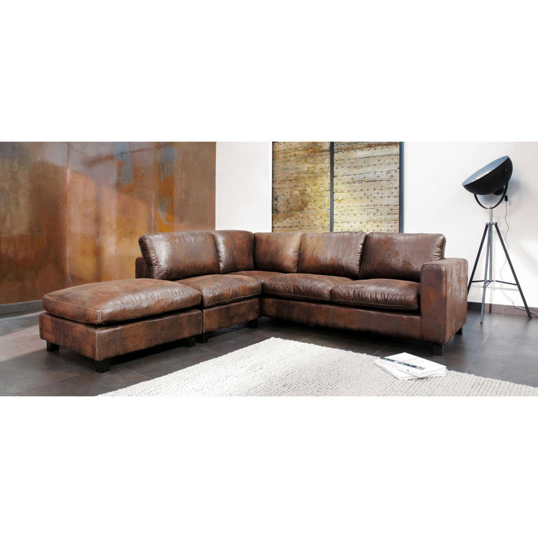 canape d angle cuir vieilli images. Black Bedroom Furniture Sets. Home Design Ideas