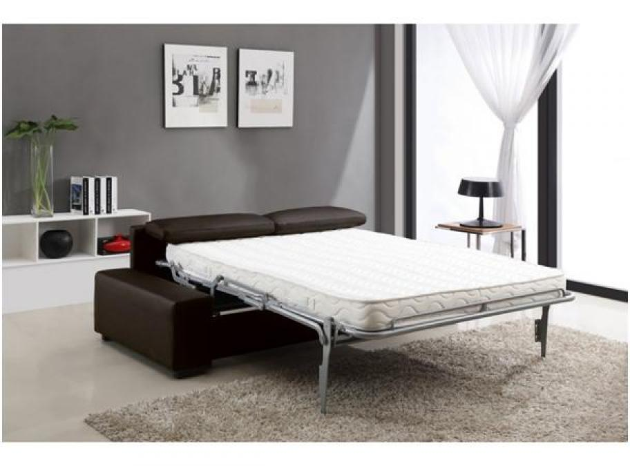 Photos canap lit convertible avec vrai matelas for Canape transformable lit