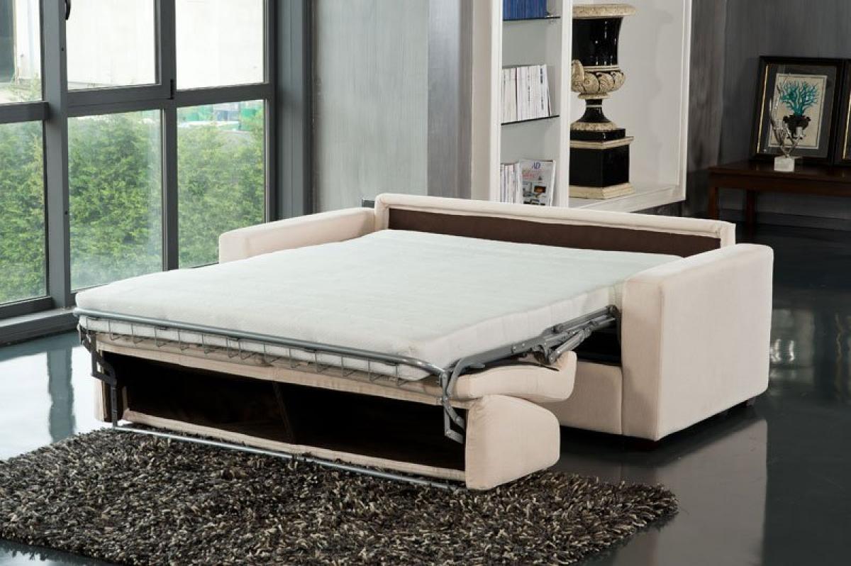 Photos canap lit convertible avec vrai matelas - Lit 200x200 avec matelas ...