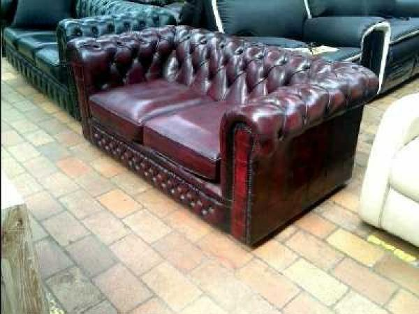 Canape chesterfield cuir occasion max min for Canape chesterfield cuir occasion