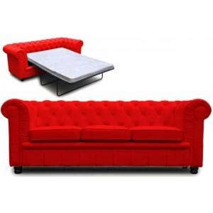 canapé chesterfield convertible rouge