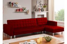 canapé chesterfield convertible rouge 9