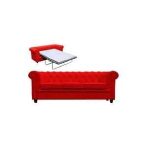 canapé chesterfield convertible rouge 10