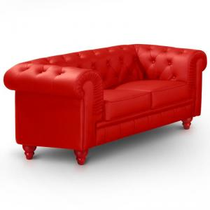 canapé chesterfield convertible rouge 19