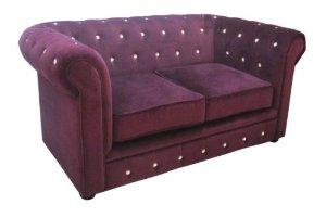 canapé chesterfield velours violet 7