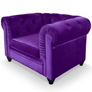 canapé chesterfield velours violet 9