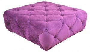 canapé chesterfield velours violet 11