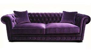 canapé chesterfield velours violet 13