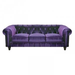 canapé chesterfield velours violet 15