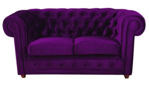 canapé chesterfield velours violet 16