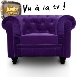 canapé chesterfield velours violet 17