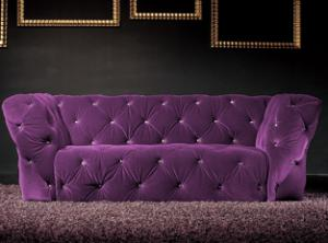 canapé chesterfield velours violet 20
