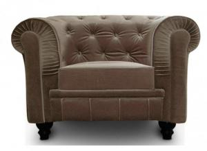 canapé chesterfield velours taupe 3