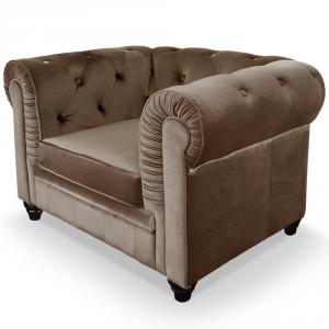 canapé chesterfield velours taupe 5