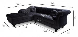 canapé chesterfield velours taupe 6