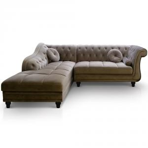canapé chesterfield velours taupe 15