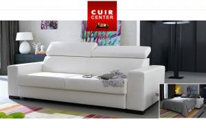 canapé modulable cuir center 4