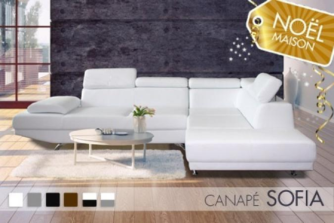 Photos canap d 39 angle cuir blanc design for Canape simili cuir blanc