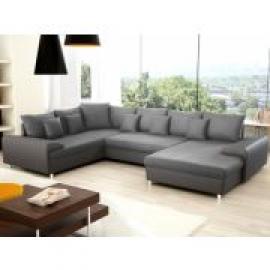 photos canap xxl 4 places en tissu et simili instinct. Black Bedroom Furniture Sets. Home Design Ideas
