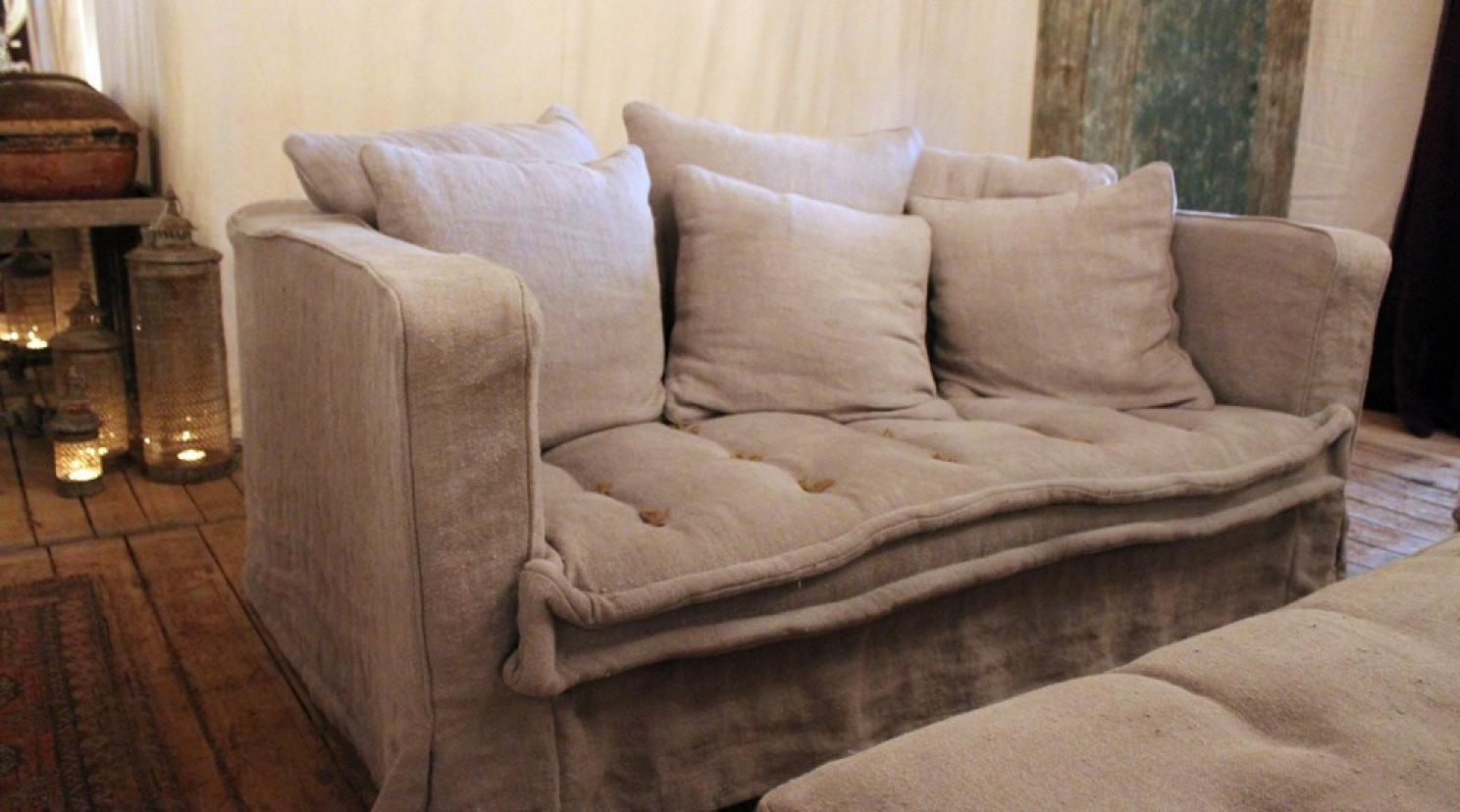 photos canap en lin. Black Bedroom Furniture Sets. Home Design Ideas