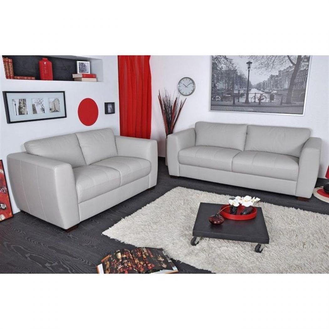 s canapé gris clair cuir