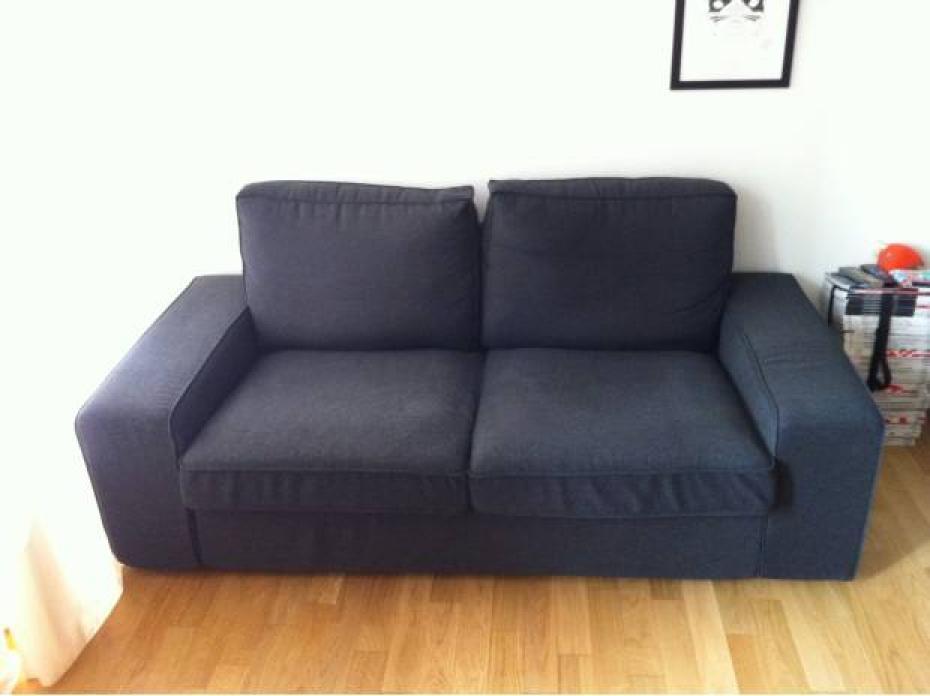 photos canap kivik ikea 2 places gris. Black Bedroom Furniture Sets. Home Design Ideas