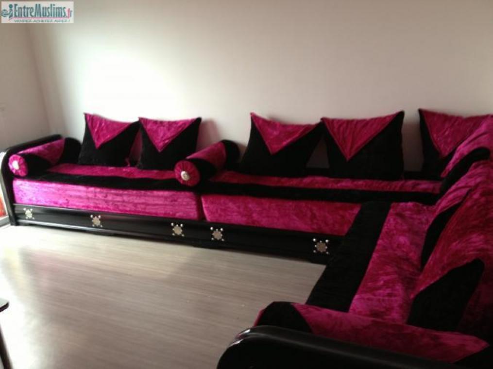 Photos canap marocain rose et noir for Salon tunisien