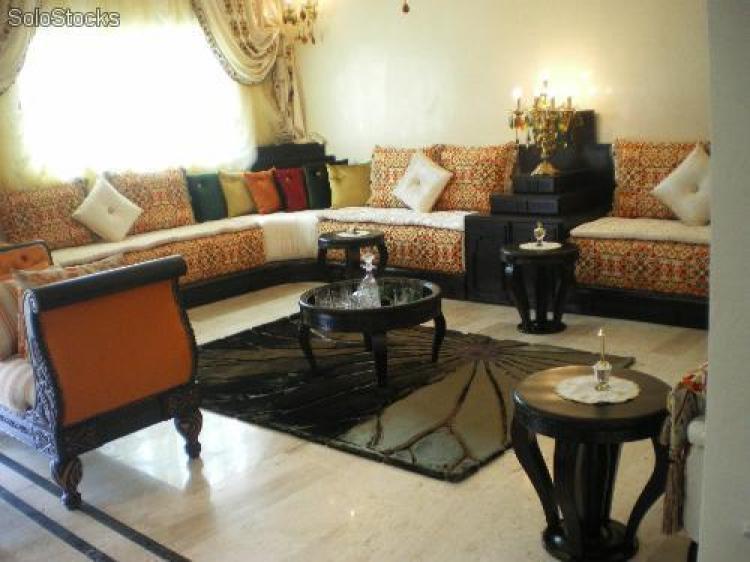 Photos canapé marocain bois
