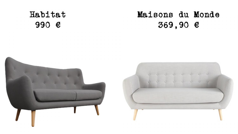 Canape Lisbonne Maison Du Monde. Cheap Salon Deco Maison Paris ...