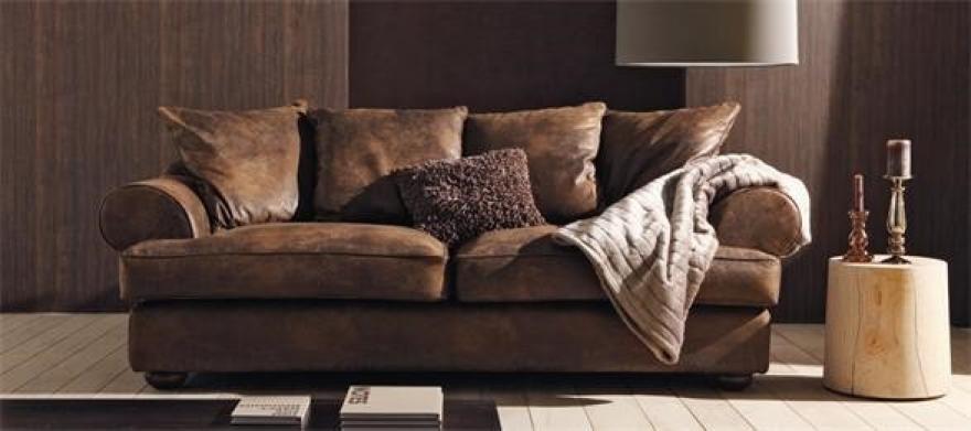 s canapé marron cuir vieilli