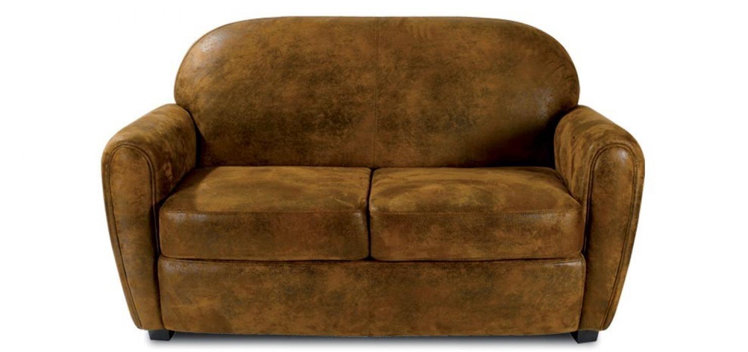 s canapé microfibre aspect cuir vieilli