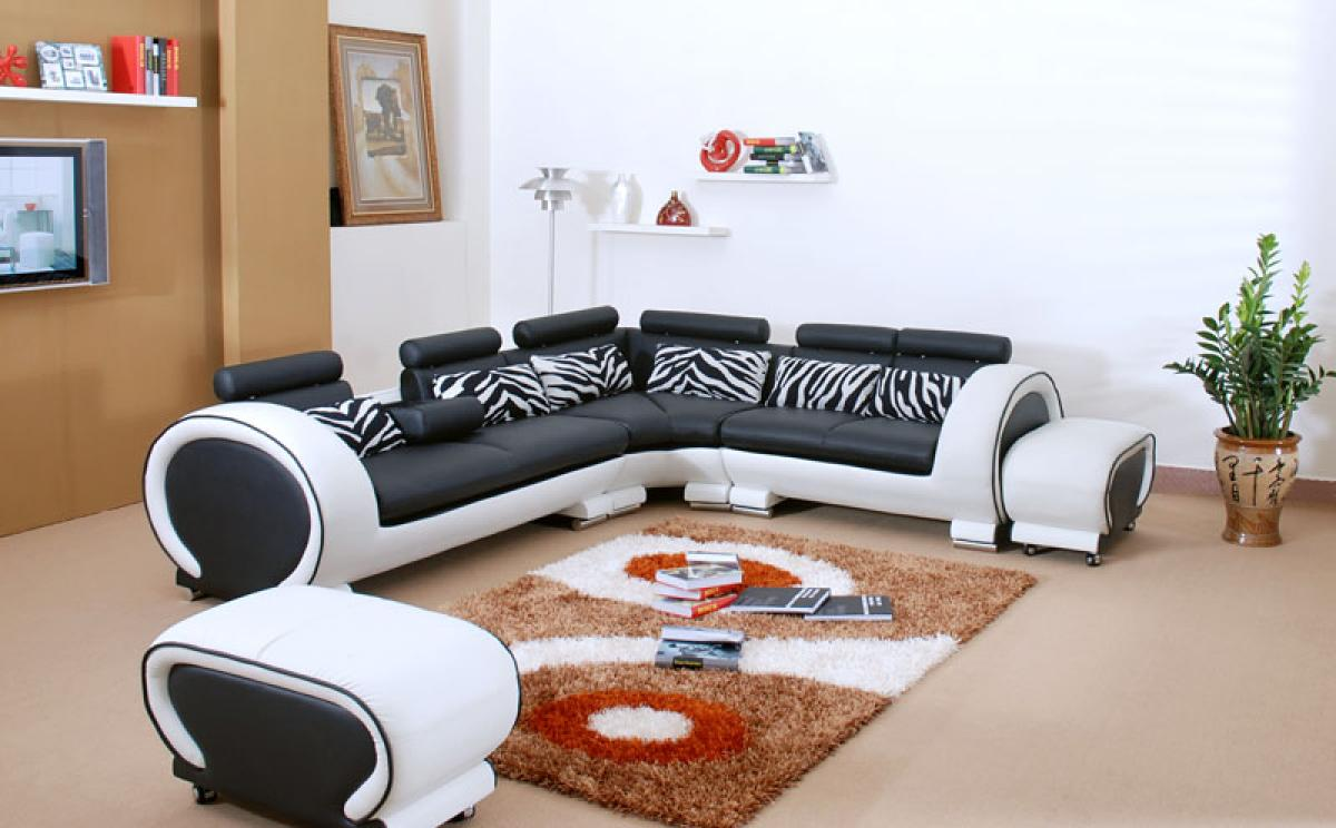 photos canap noir et blanc cdiscount. Black Bedroom Furniture Sets. Home Design Ideas