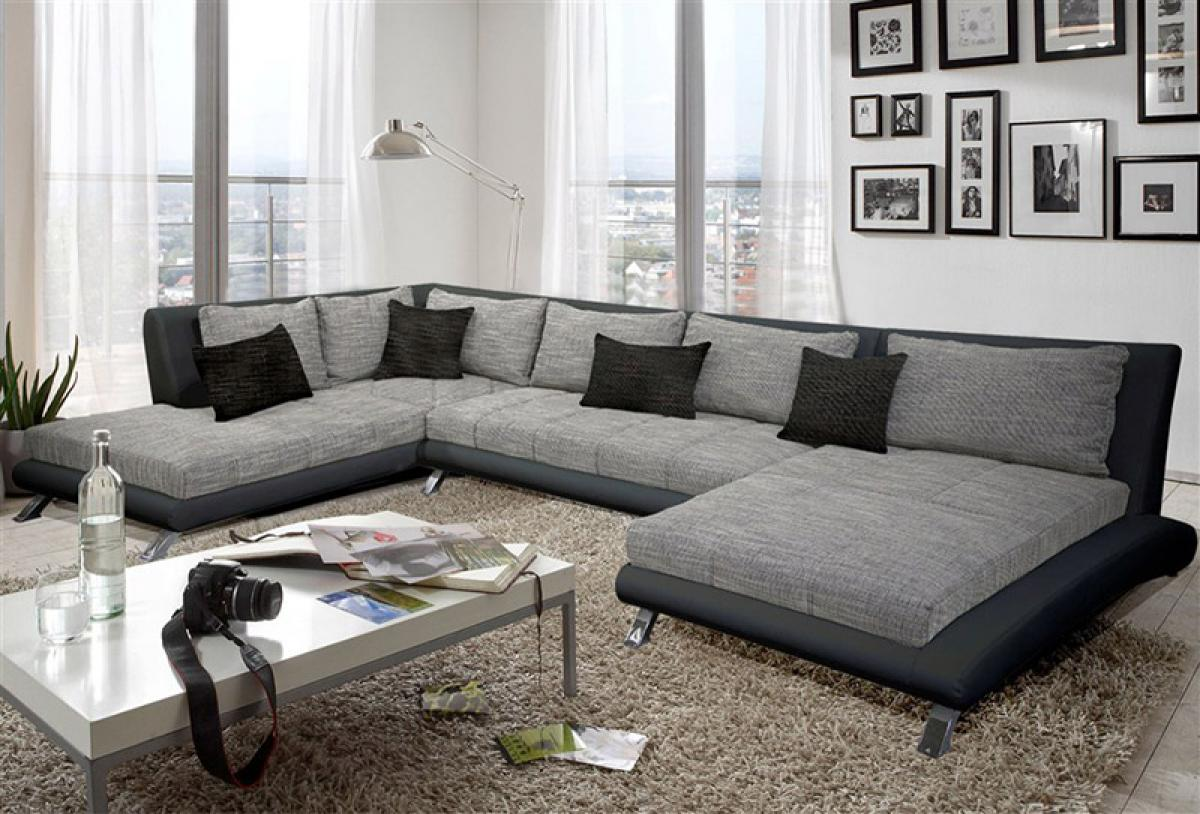 s canapé d angle gris tissu