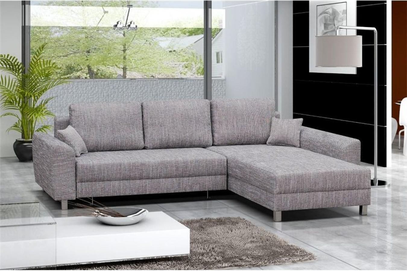 s canapé d angle tissu gris