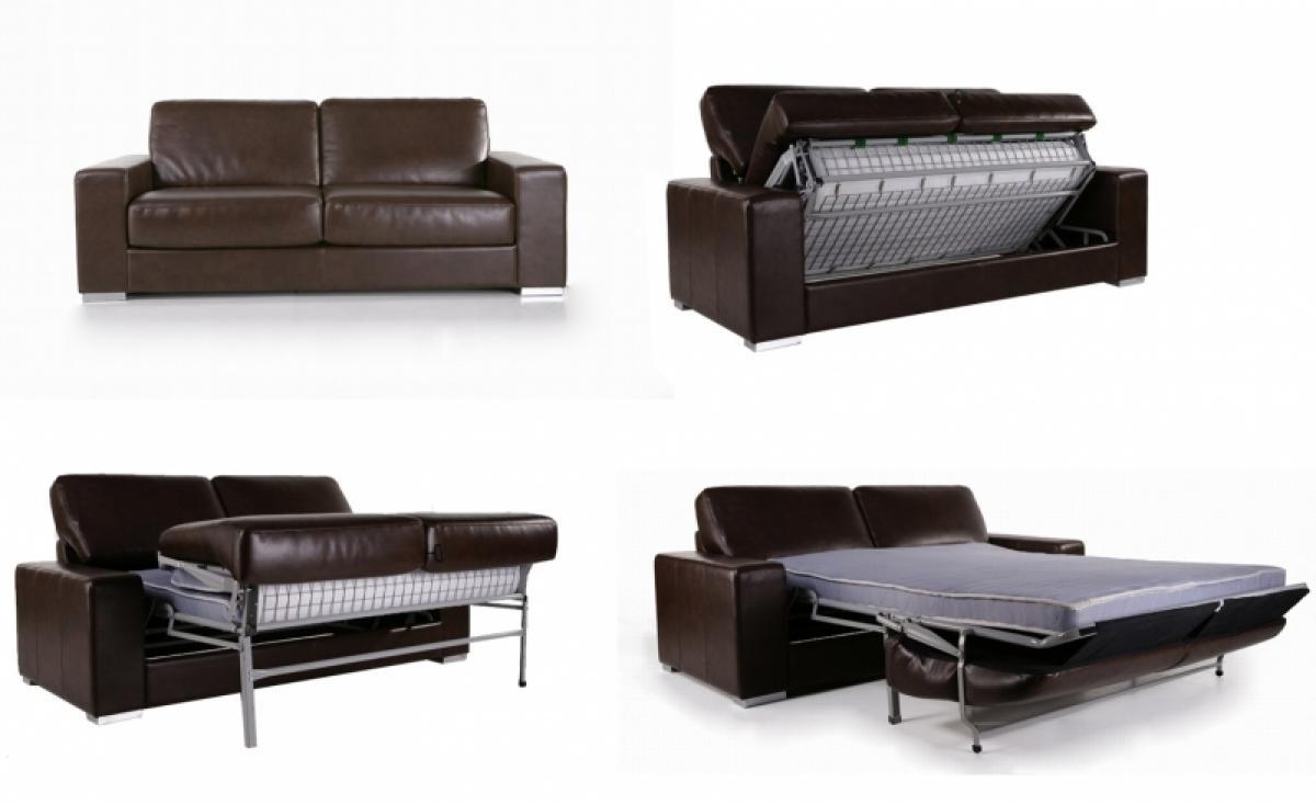 photos canap convertible cuir marron. Black Bedroom Furniture Sets. Home Design Ideas