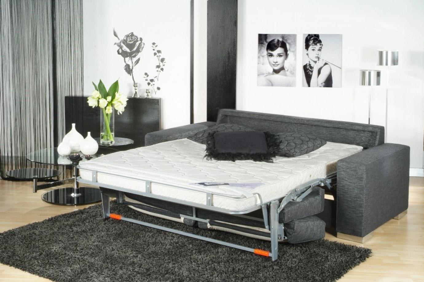 photos canap lit convertible avec vrai matelas. Black Bedroom Furniture Sets. Home Design Ideas