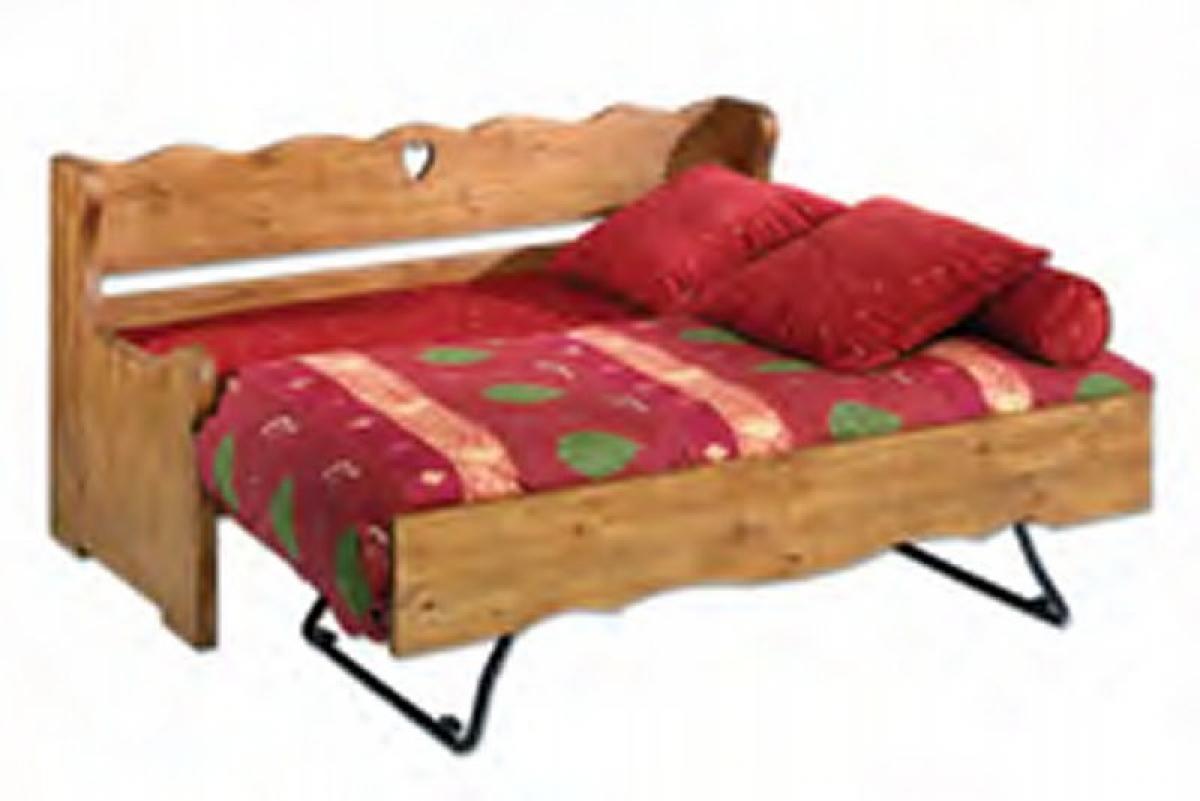 nouveau produit d3100 cb052 Photos canapé lit gigogne style montagne