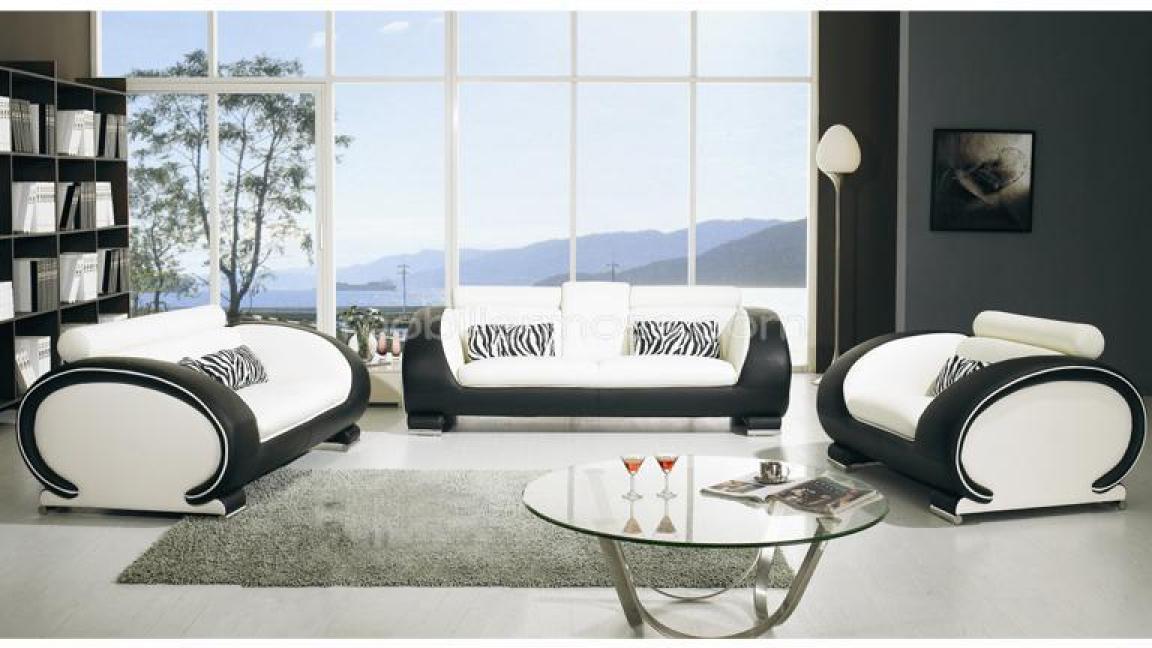 Fauteuil Salon Noir Et Blanc