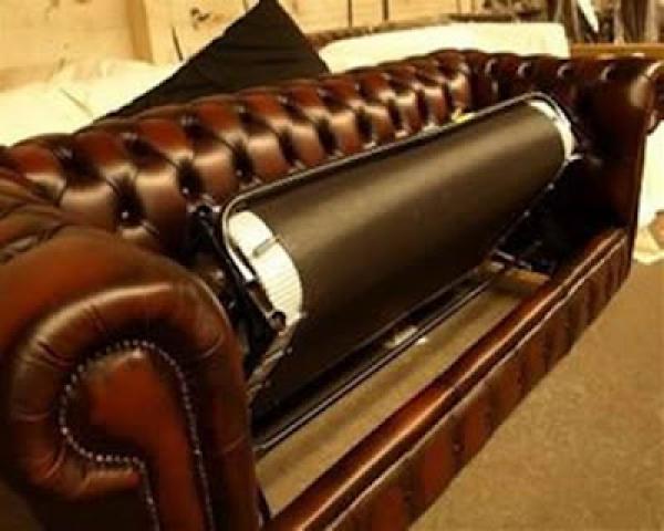 Photos canapé chesterfield cuir vieilli