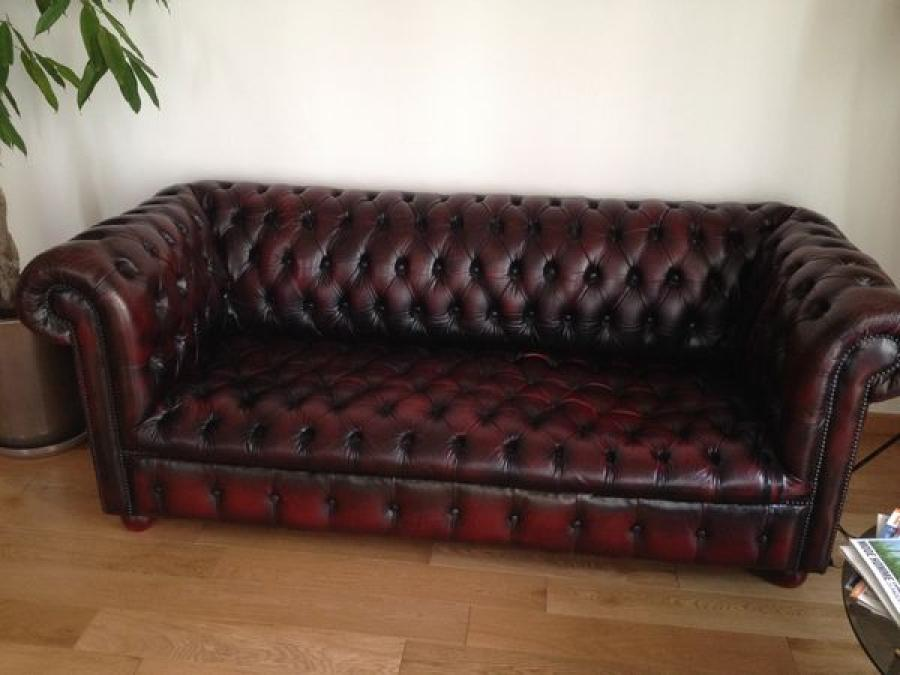 Photos canap chesterfield cuir occasion - Canape chesterfield rouge cuir ...
