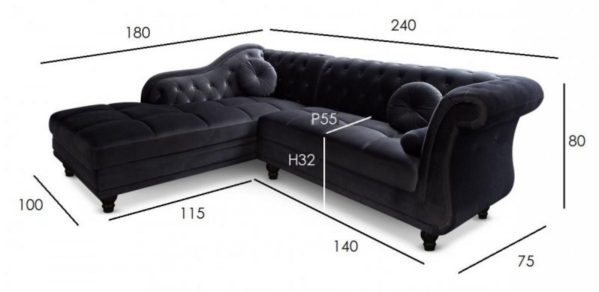 Stunning Canape Chesterfield Velours Noir Ideas - Joshkrajcik.us ...