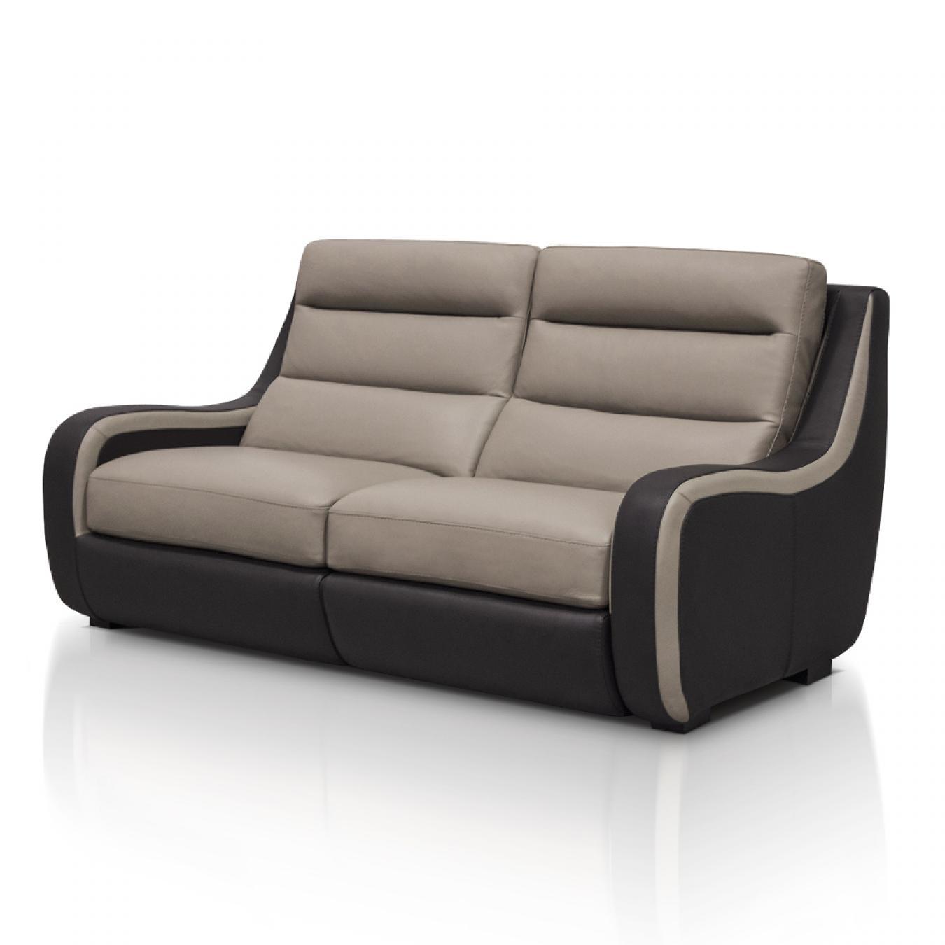Photos canap 2 places relaxation lectrique cuir for Canape 4 places electrique