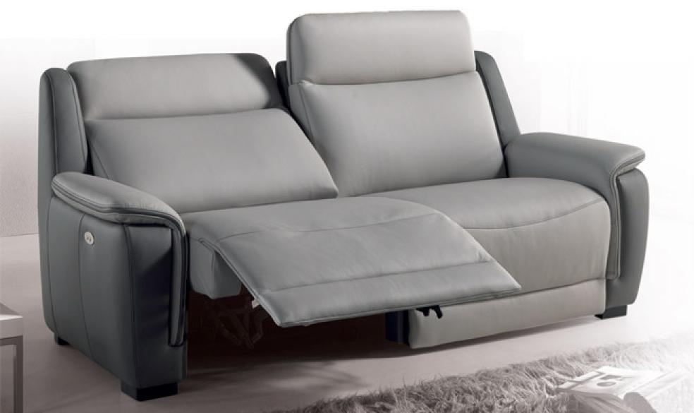 s canapé 2 places relaxation électrique cuir