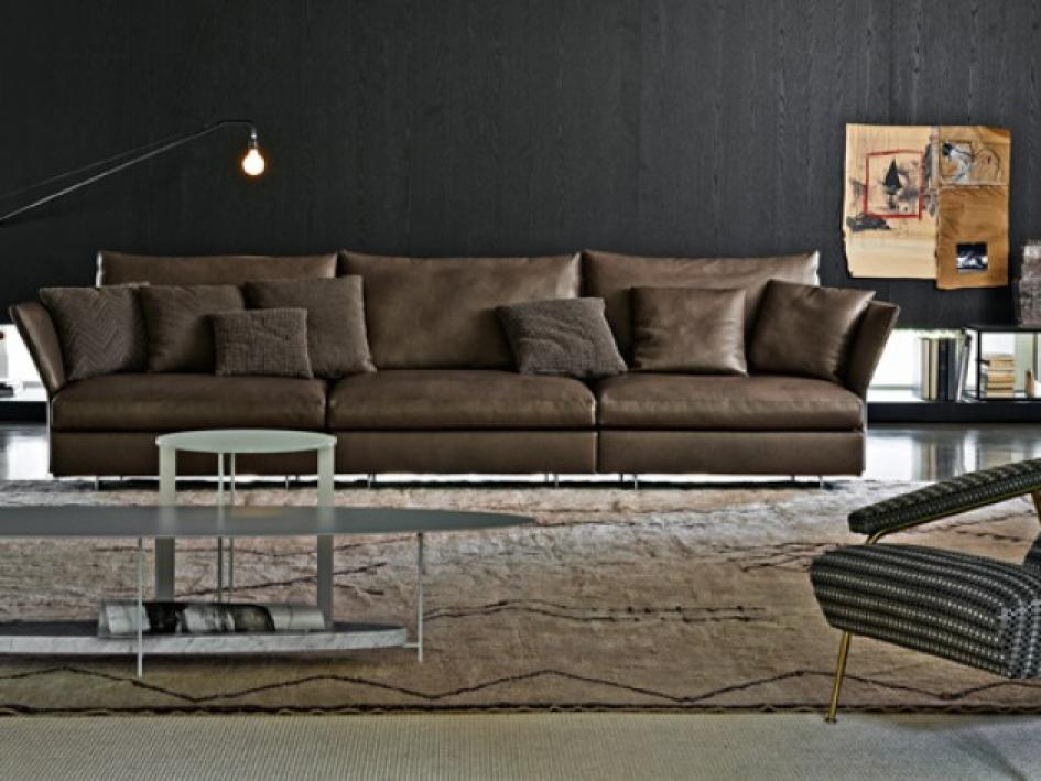 photos canap d 39 angle cuir marron clair. Black Bedroom Furniture Sets. Home Design Ideas
