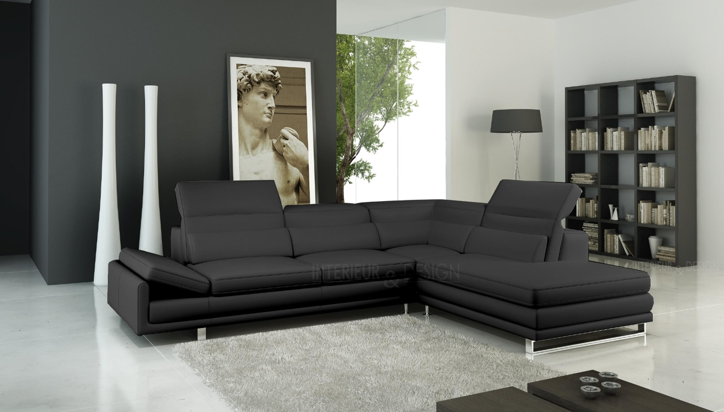 photos canap d 39 angle cuir design italien. Black Bedroom Furniture Sets. Home Design Ideas