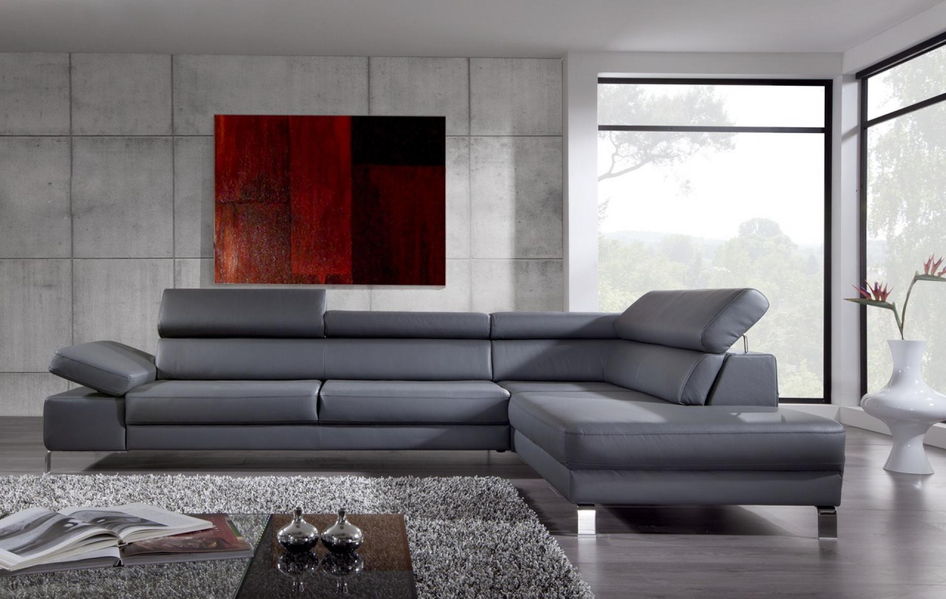 s canapé d angle cuir gris anthracite
