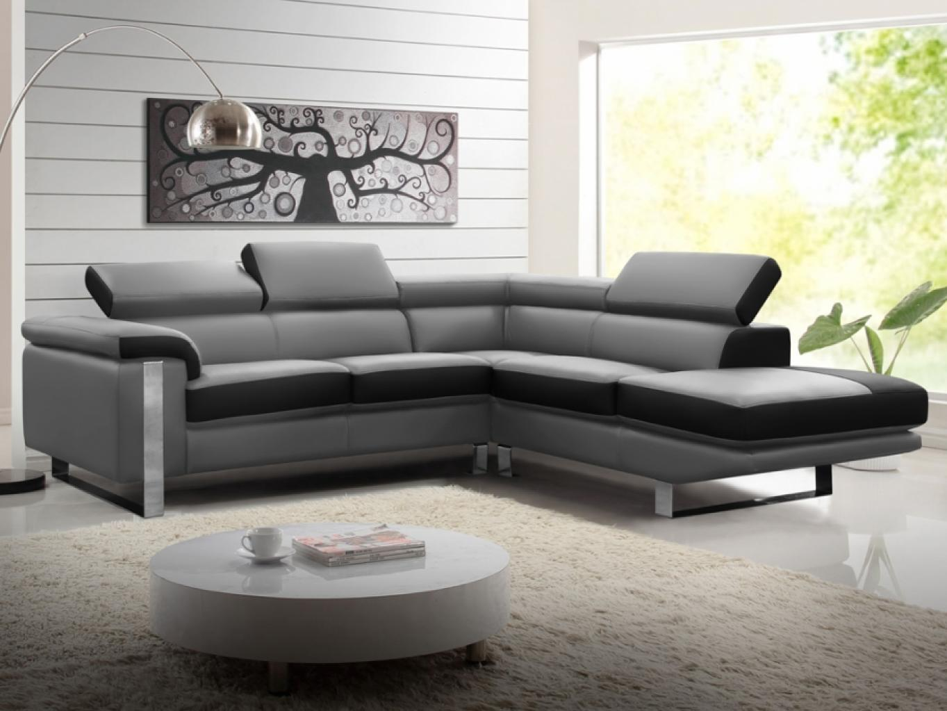 photos canap d 39 angle cuir gris conforama. Black Bedroom Furniture Sets. Home Design Ideas