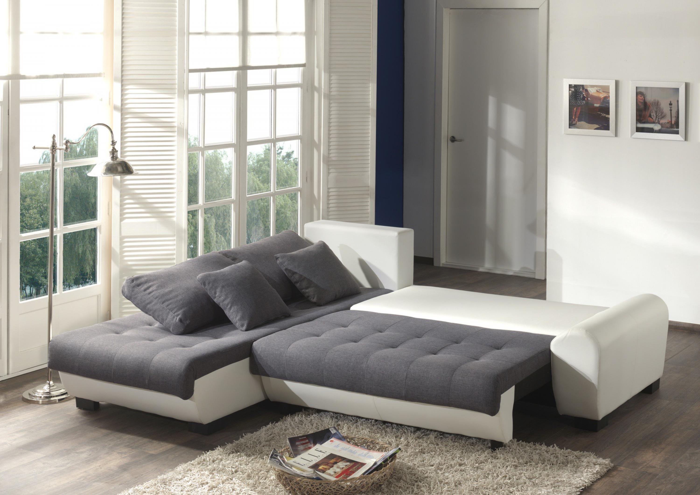 photos canap d 39 angle gris et blanc tissu. Black Bedroom Furniture Sets. Home Design Ideas