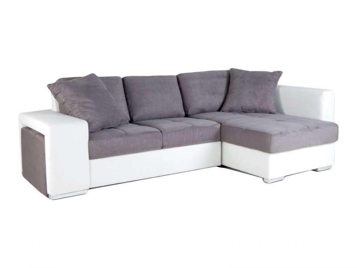 Canape d angle gris et blanc but for Canape gris et blanc